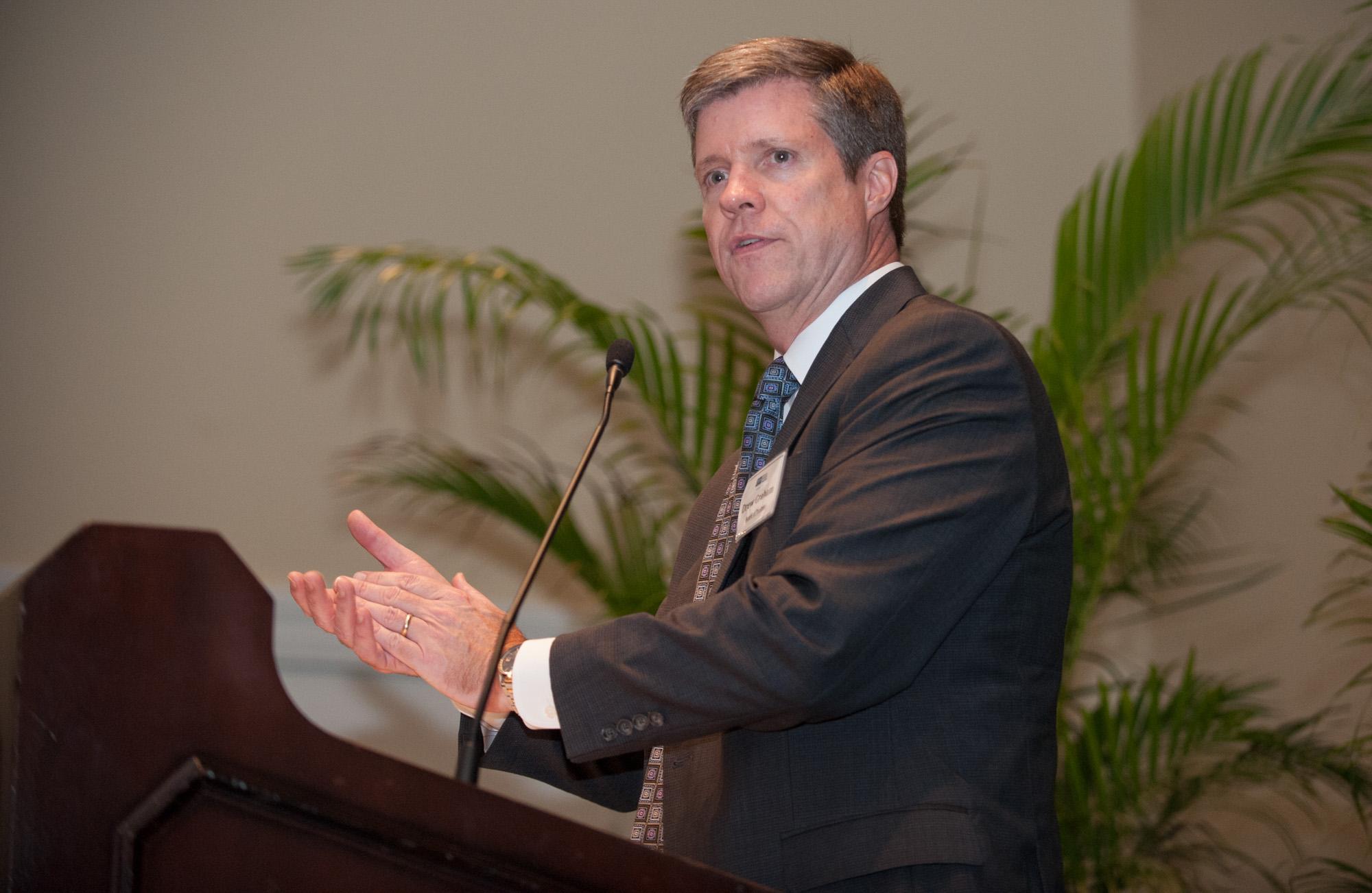 Drew Graham speaks during the TGH Foundation dinner.