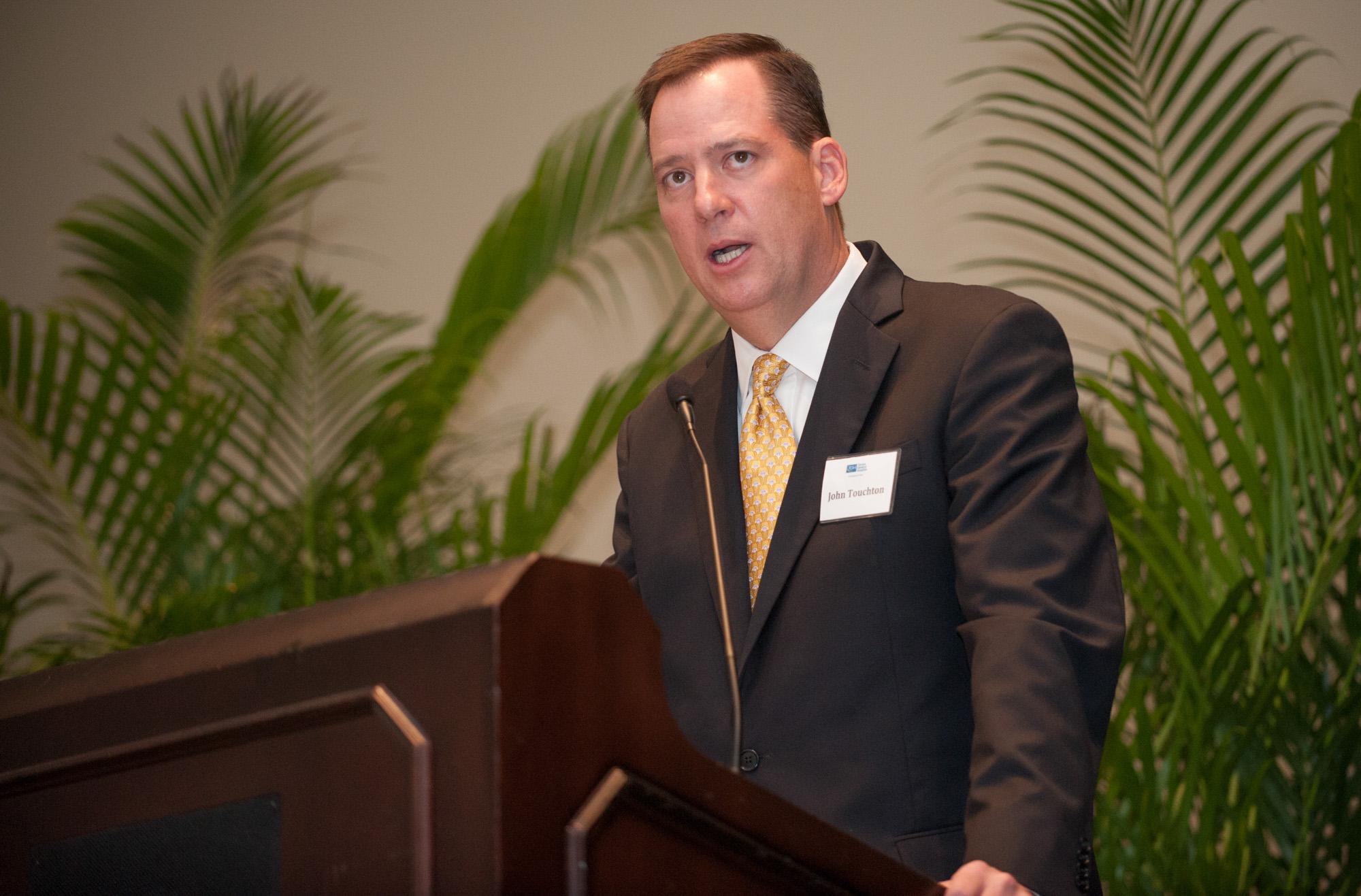 John T. Touchton, Jr. speaks during the TGH Foundation dinner.