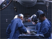 Physicians performing a surgical procedure