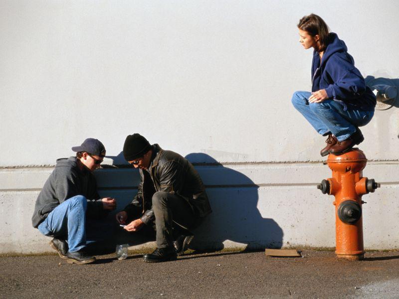 Group of teens huddling