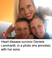 Heart disease and stroke survivor Daniela Leonhardt, in a photo she provided, with her sons.