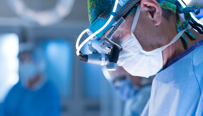 Cardiovascular surgeon in operating room