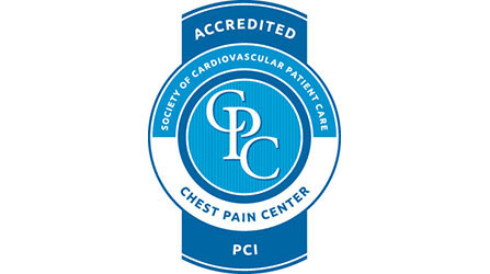 Chest pain center accredited seal