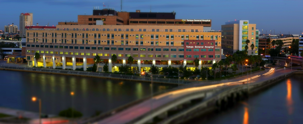 Aerial view of Tampa General Hospital