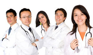 Team of neck cancer doctors