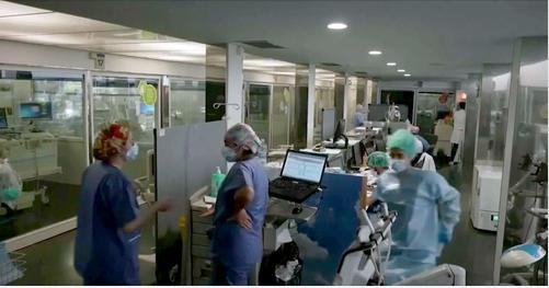 Tampa General Hospital nursing staff in Covid ward