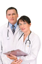 Male and female physician