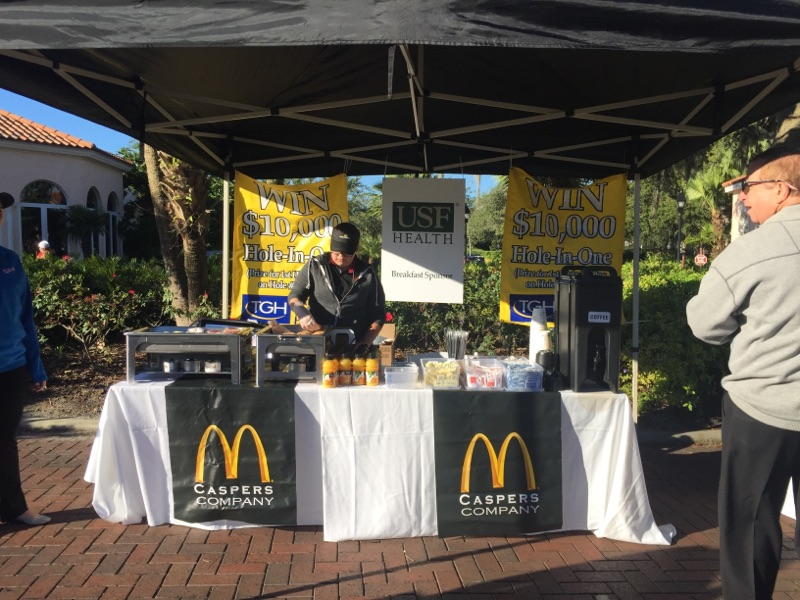 Caspers Company McDonald's Restaurants provided a hot breakfast to all of our golfers.  Special thanks to our breakfast sponsor, USF Health.