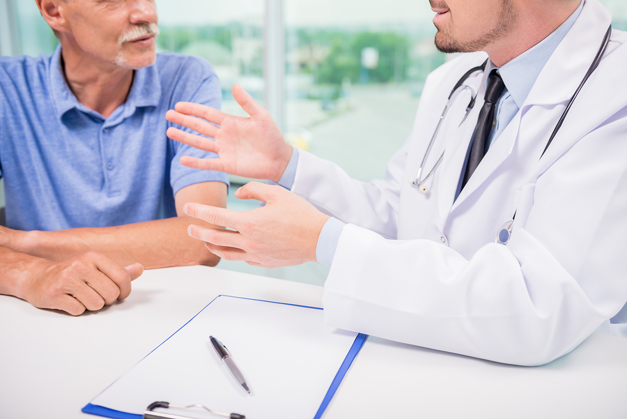 physician talking with a patient