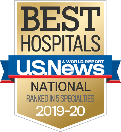 TGH is a nationally ranked hospital in 5 specialties by US News and World Report