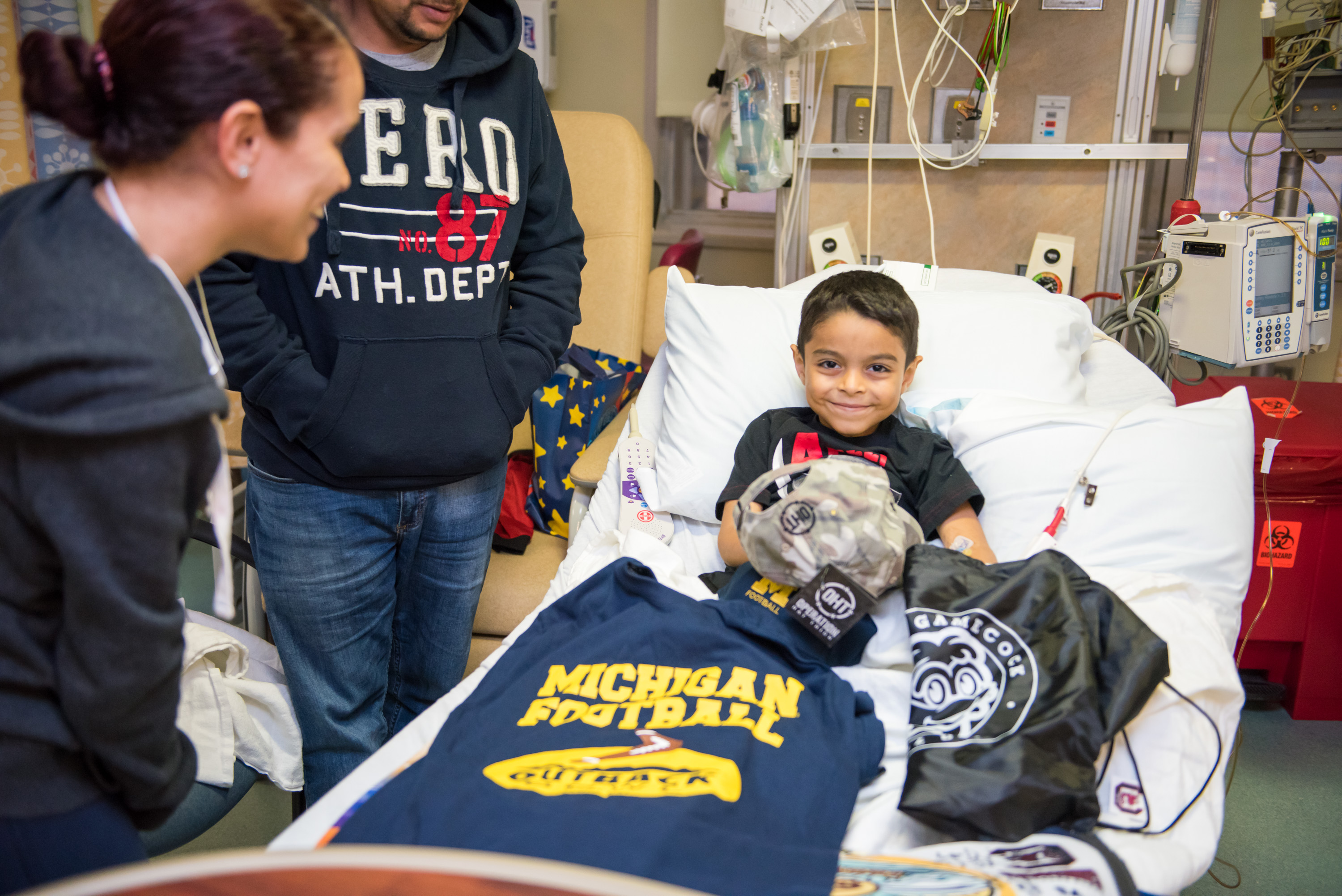 young male patient with all his outback bowl gear