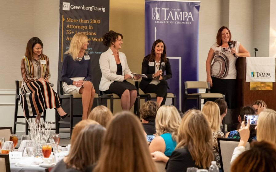 TGH leader Kelly Cullen spoke on a Chamber of Commerce panel Friday.