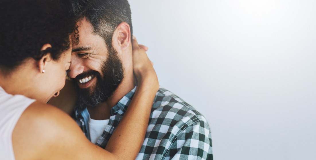 Image of a couple embracing