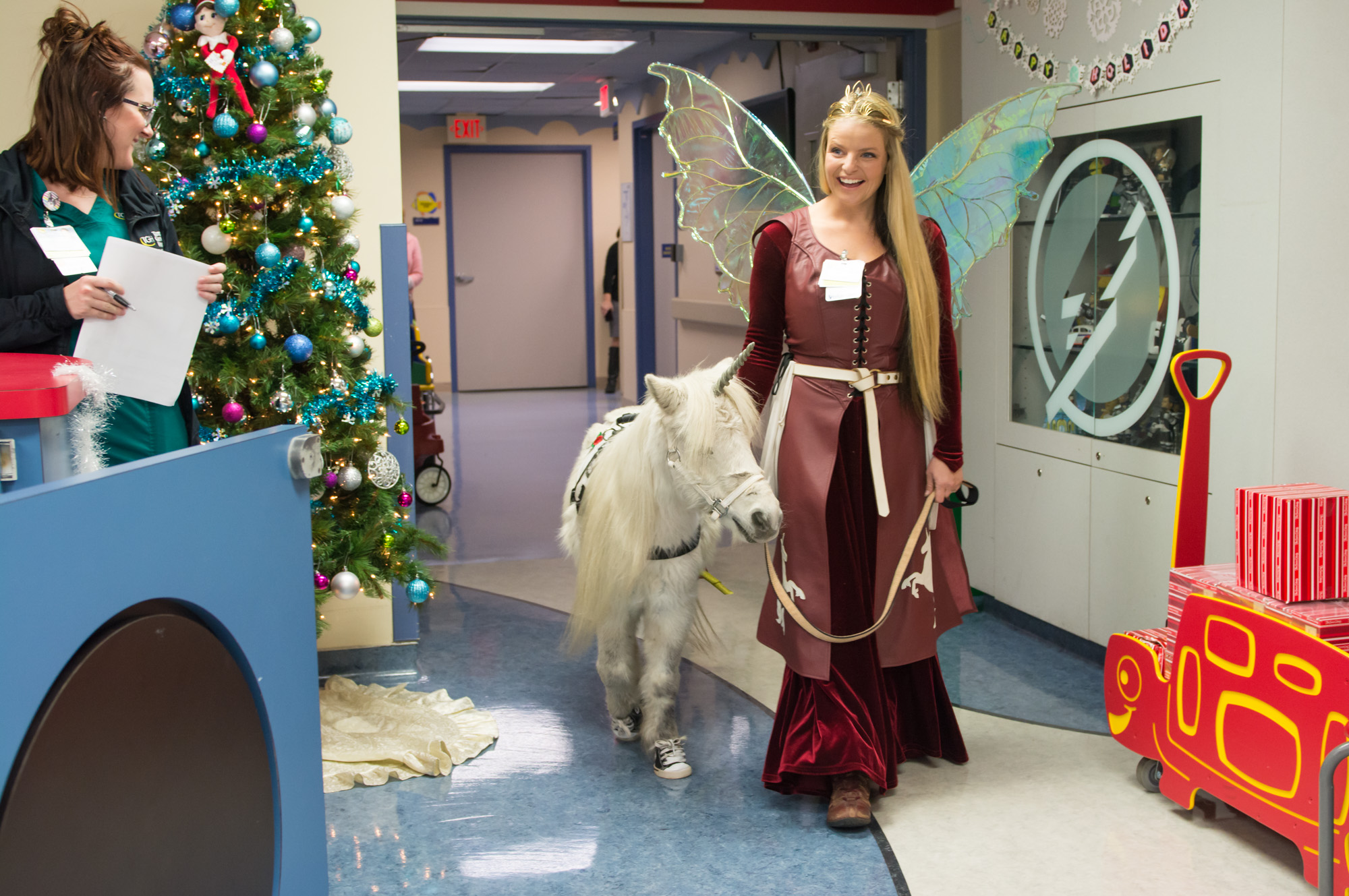 unicorn and fairy visits at Tampa General Hospital