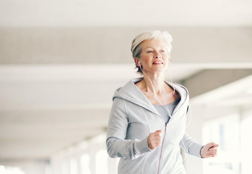 A woman on a run
