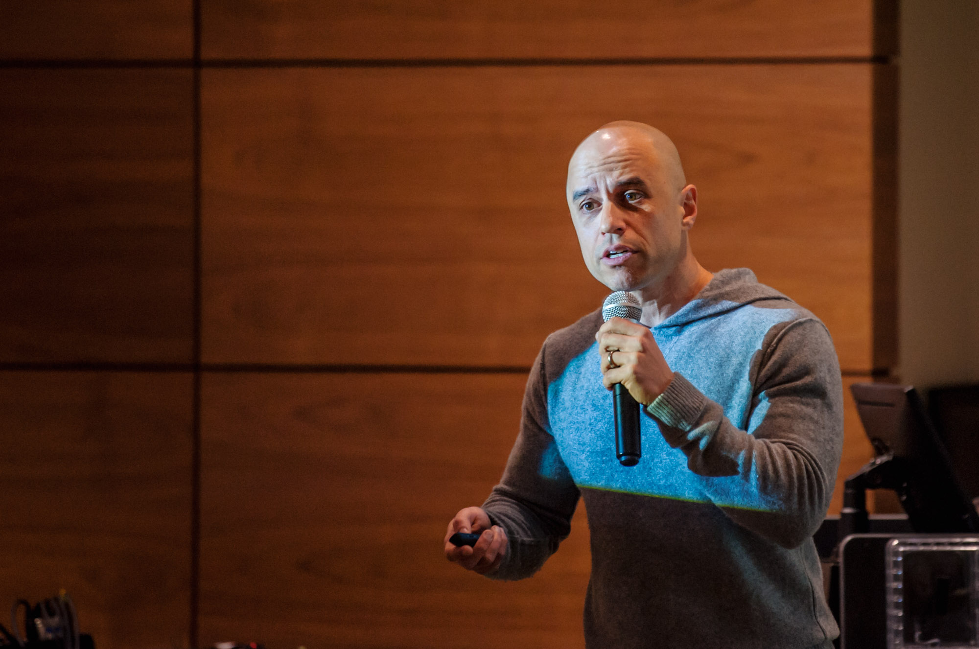 ZDoggMD giving a presentation