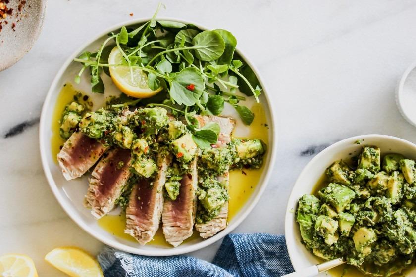 Picture of prepared tuna salad verde