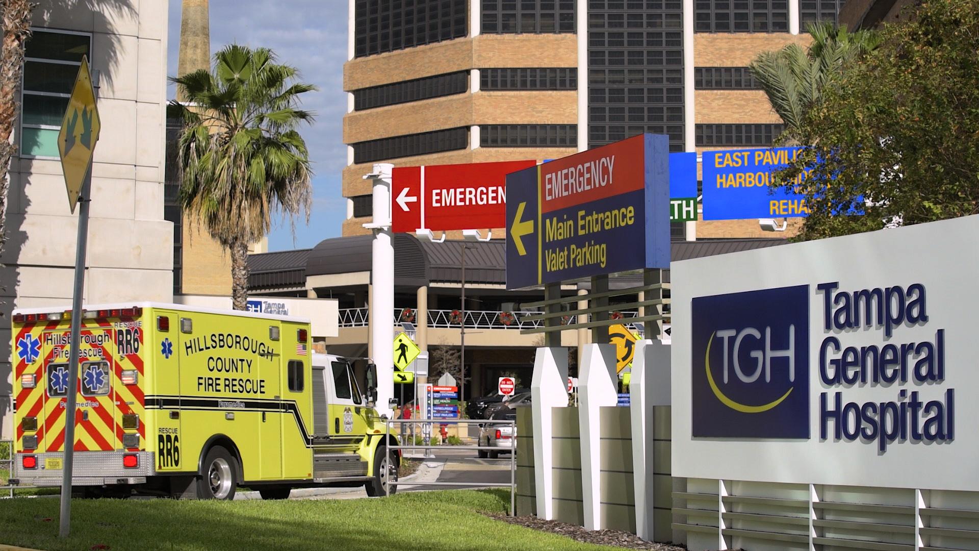 Tampa General Hospital emergency room entrance
