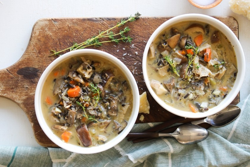 Wild Rice and Mixed Mushroom Soup