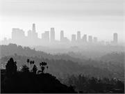 LA skyline in smog