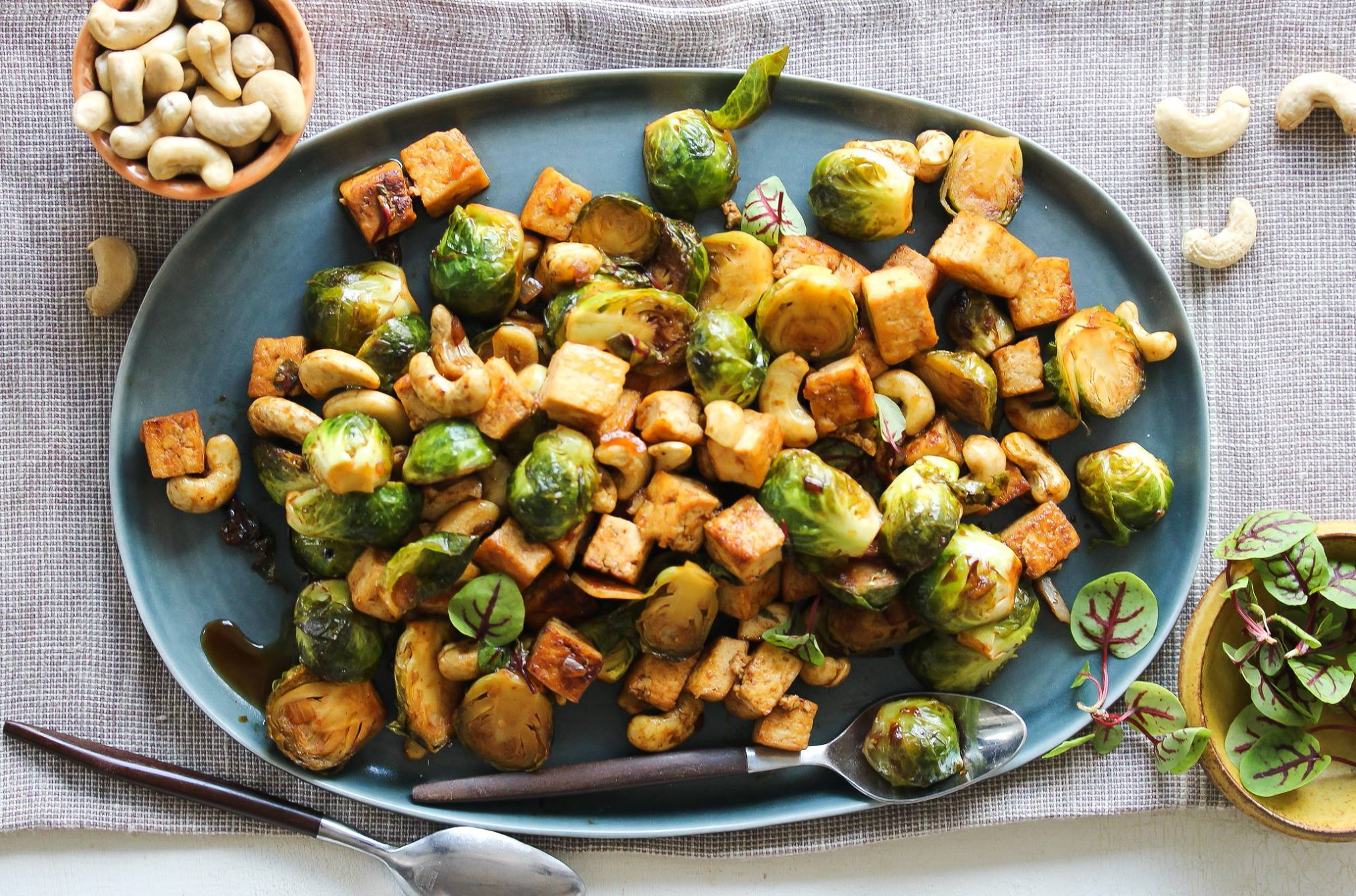 Sweet and Sour Tofu and Brussels Sprouts Stir-Fry