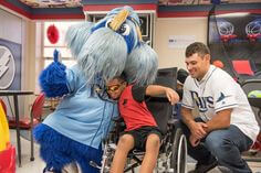 Tampa Bay Rays catcher Luke Maile visiting our patients in the Children's Medical Center