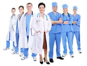 A variety of medical professionals posing