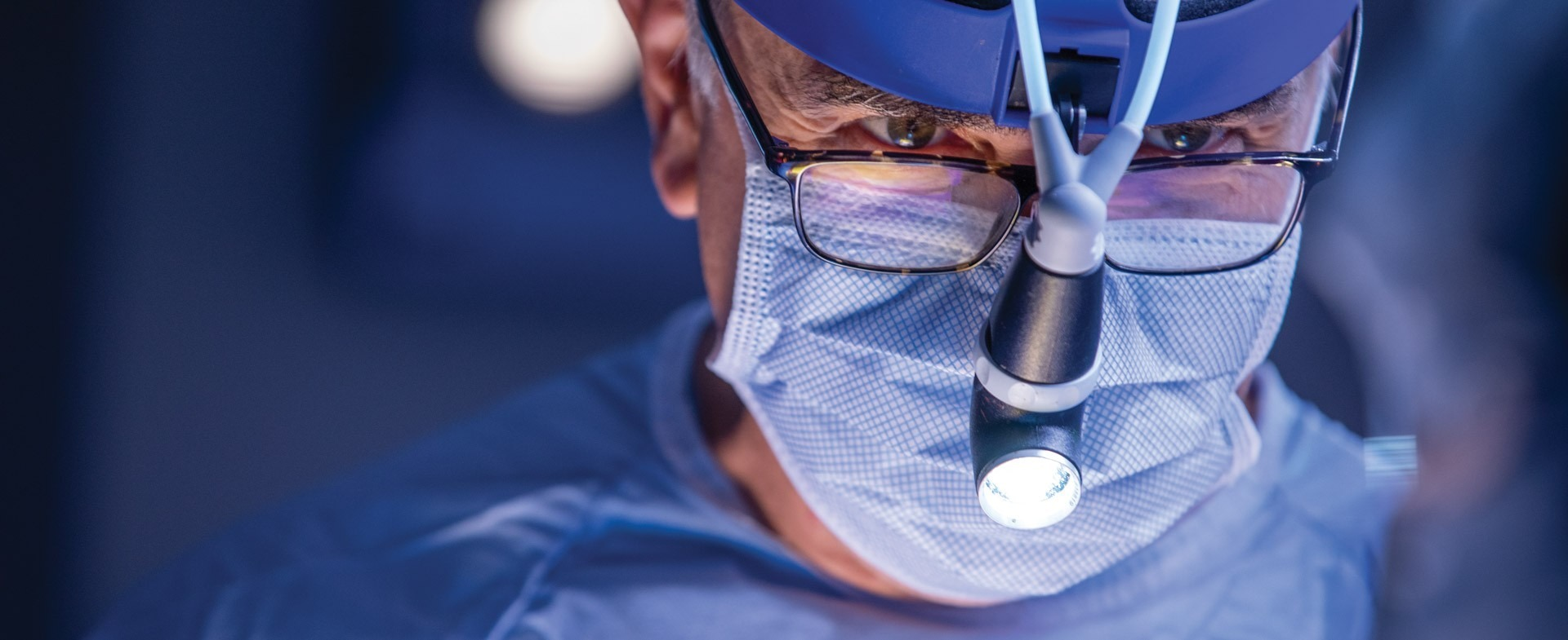 Close up image of TGH cardiothoracic surgeon during procedure