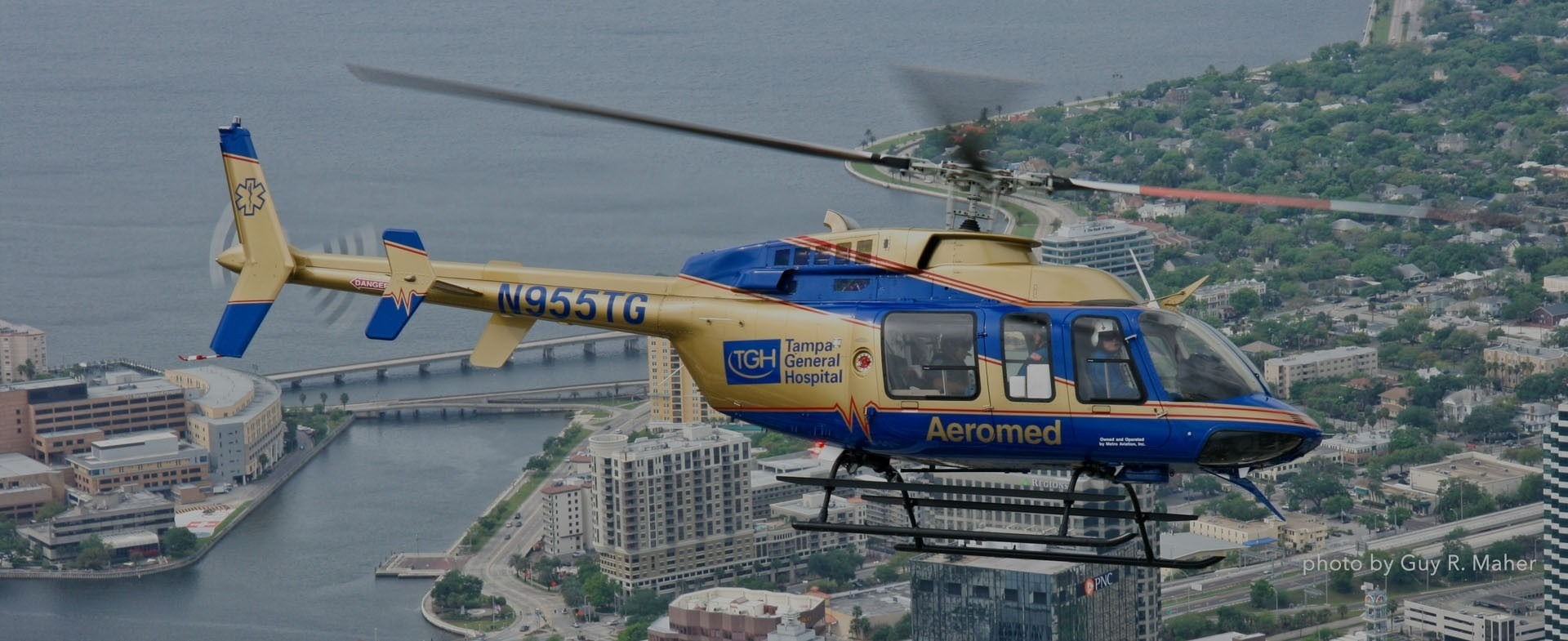 Tampa general medical helicopter flying
