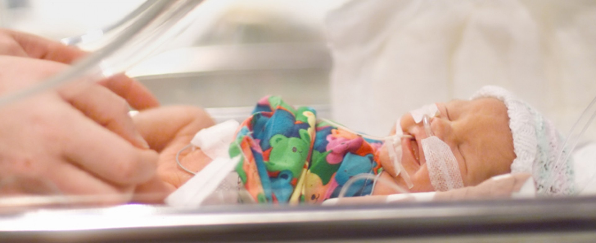 An infant in intensive care