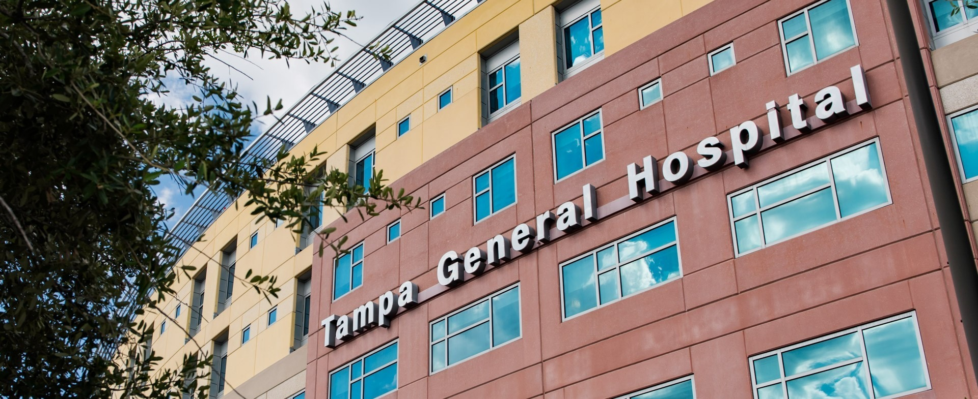 Exterior of Tampa General Hospital