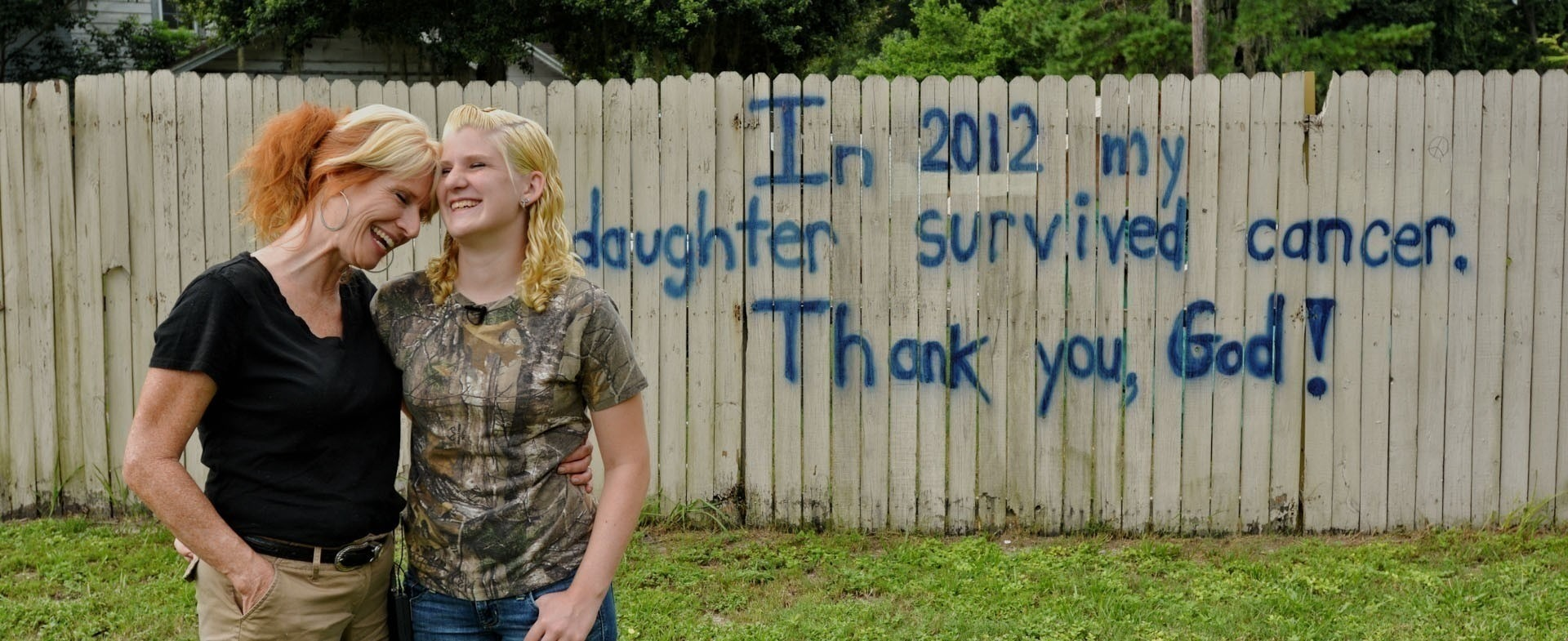 A cancer survivor with her mother
