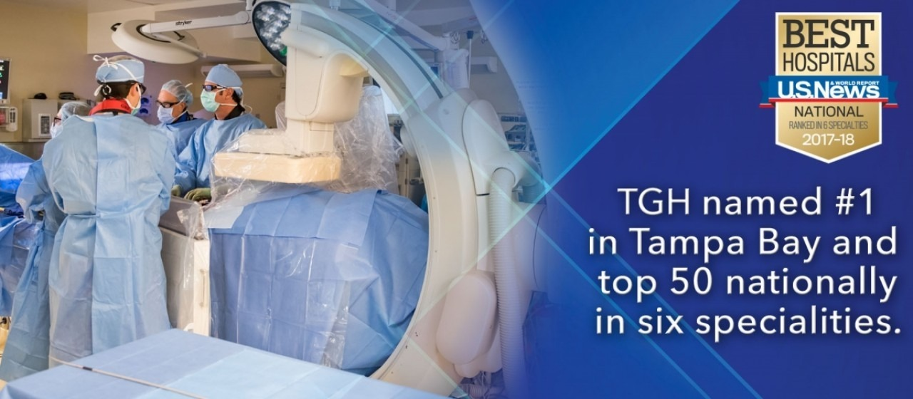 U.S. news 'best hospitals national' award banner