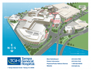 Map of Tampa General Hospital