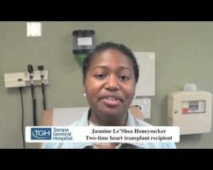A heart transplant recipient speaking