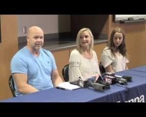 Lightning survivors family news conference