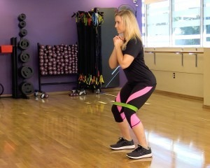 A woman exercising