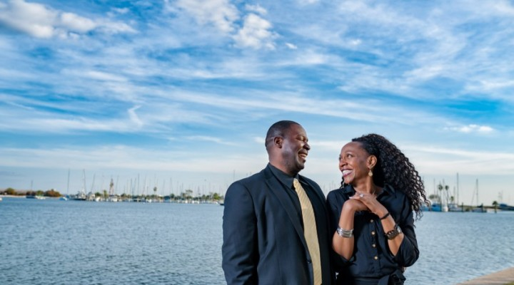 Heart transplant recipient Tonya Cajuste and her husband, JC