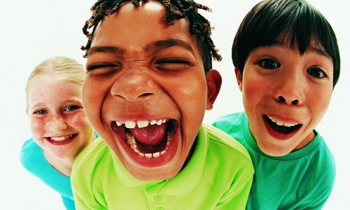 group of kids smiling