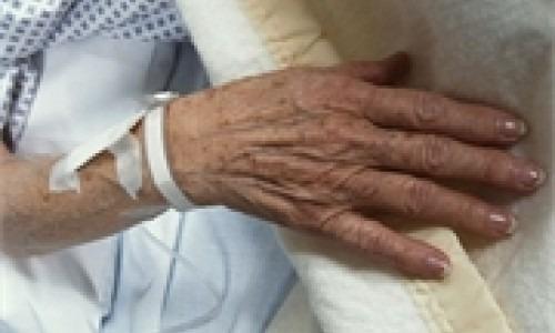 hand of elderly patient