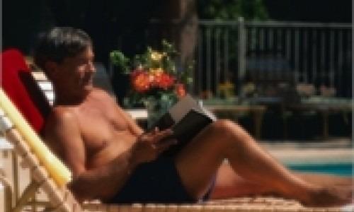 man at the swimming pool