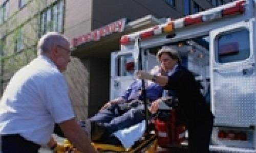 patient entering ambulance
