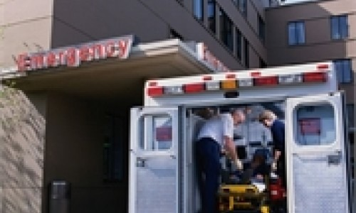 ambulance at emergency room