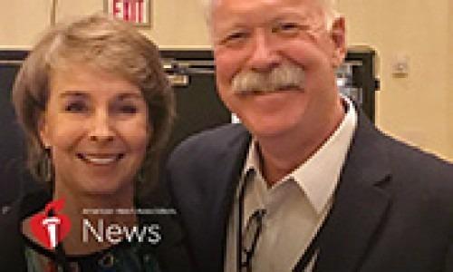 Cardiac arrest survivor Joe Farrell, in a photo he provided, and wife, Edie.