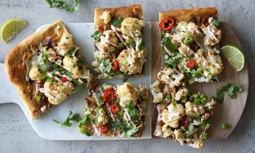 Thai Roasted Cauliflower Pizza