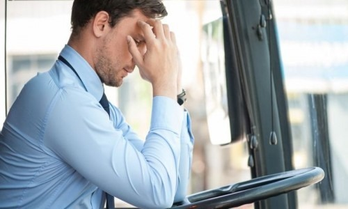 stressed bus driver