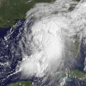 Aerial view of Hurricane Hermine