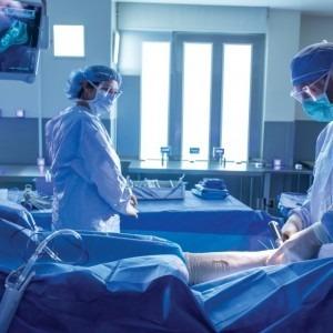 Dr. Sanders performing surgery