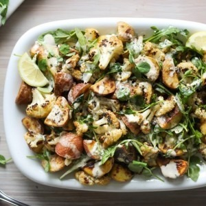 Roasted Cauliflower and Potato Salad with Tarragon Tahini