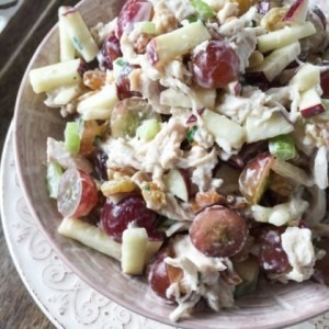 Lightened Up Chicken Waldorf Salad